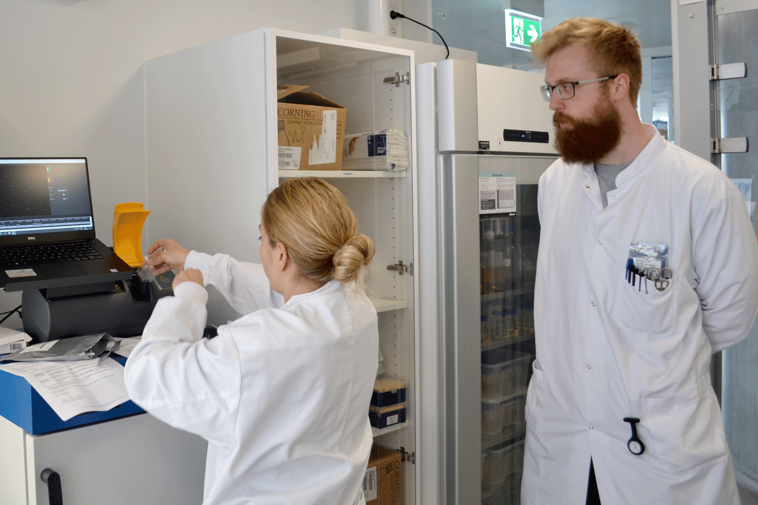Scientists in the lab using the NucleoCounter® NC-200™