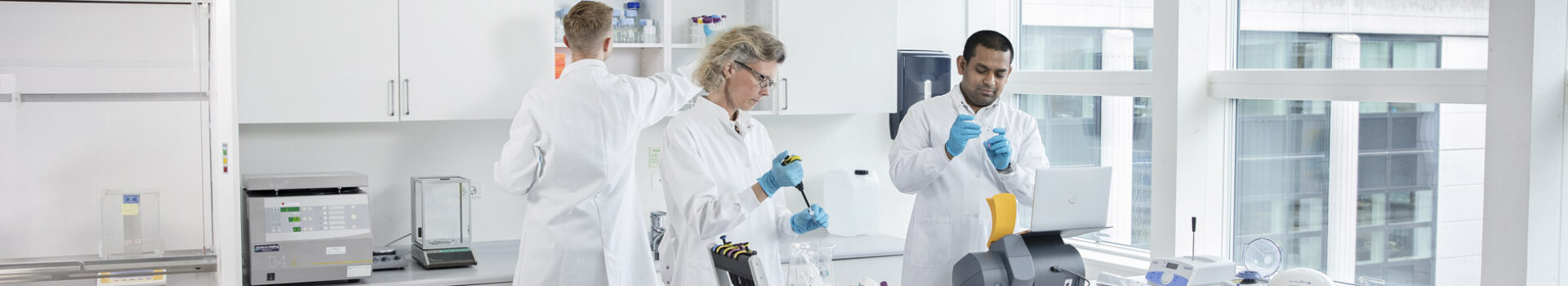 Scientists working in the lab using NucleoCounter® NC-202™