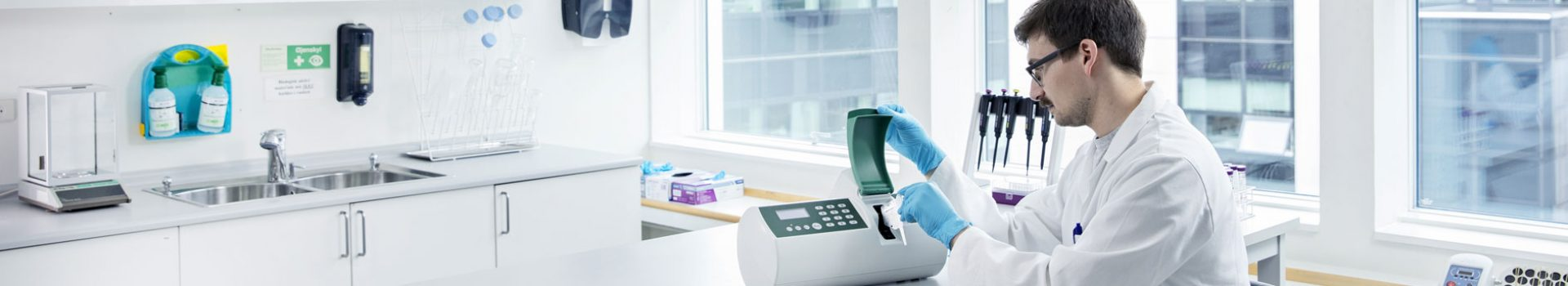 Scientists in the lab using NucleoCounter® YC-100™