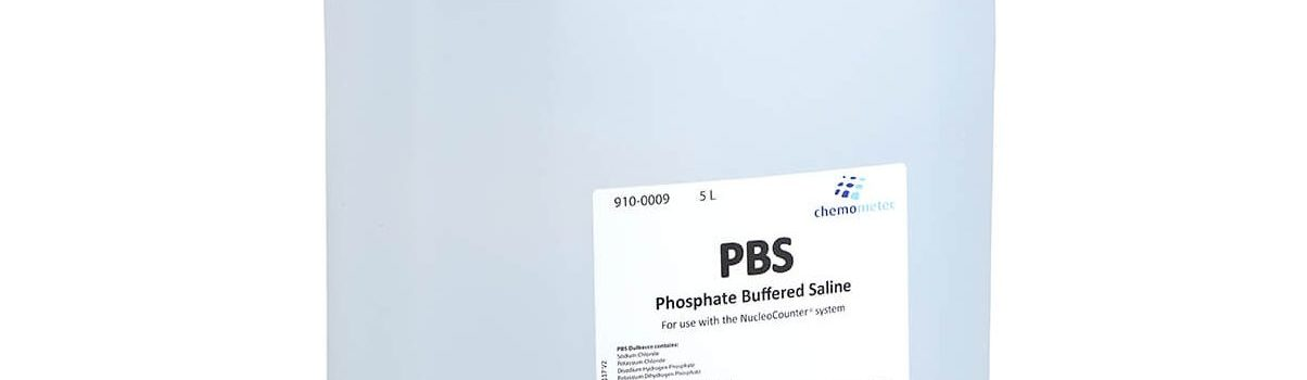 A Bottle of PBS, 5 l. - Phosphate Buffered Saline
