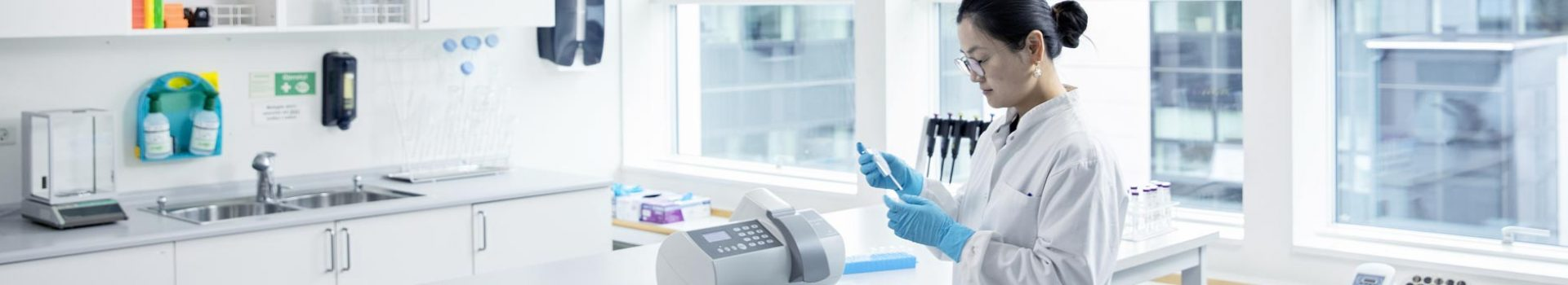 Scientist using the NucleoCounter® SP-100™ - Automated Sperm Cell Counter in the lab